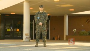 This is Marine Staff Sargent Jordan Pritchard.